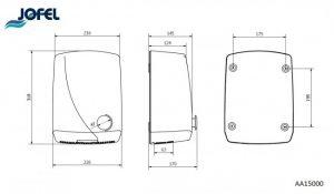 Электросушилка для рук Jofel Futura AA15000